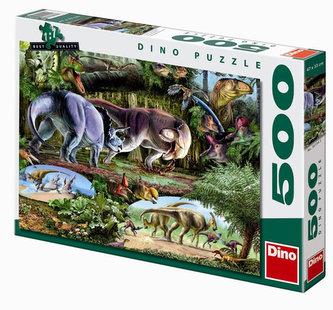 Země Dinosaurů - puzzle 500 dílků