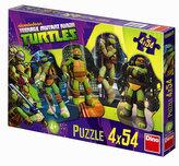 Želvy Ninja - puzzle 4 motivy v balení 4x54 dílků