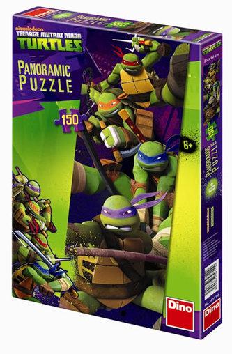 Želvy Ninja - puzzle Panoramic 150 dílků