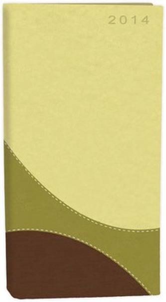 Diář A6 Fashion týdenní zeleno hnědý 2014