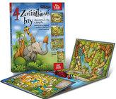 4 zvířátkové hry - Leporelo herních plánů s kostkou a figurkami pro zábavné učení zvířátek a logopedie
