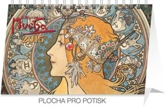 Kalendář 2015 - Alfons Mucha - stolní týdenní
