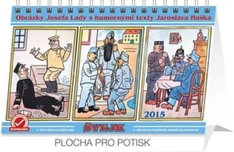 Kalendář 2015 - Josef Lada Švejk - stolní týdenní