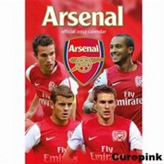 Arsenal 2012 - nástěnný kalendář