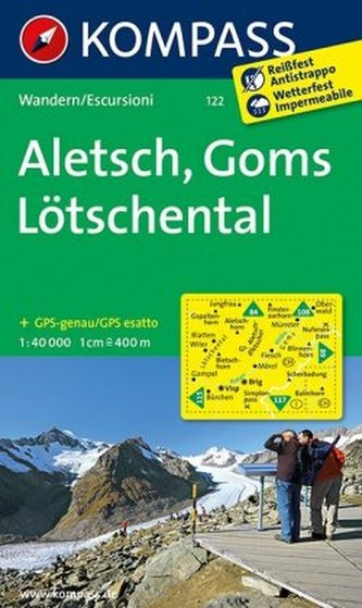 Kompass Karte Aletsch, Goms, Lötschental