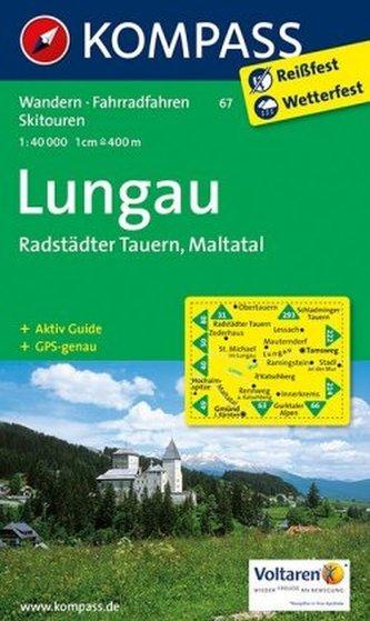 Kompass Karte Lungau, Radstädter Tauern, Maltatal