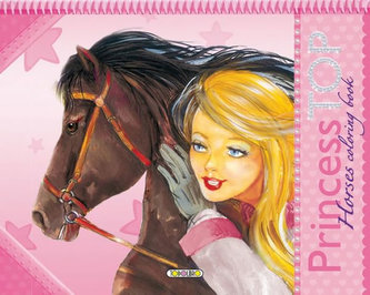 Princess TOP Horses coloring book