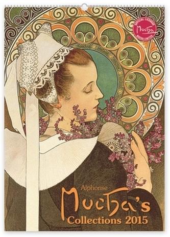 Alfons Mucha Collections - nástěnný kalendář 2015