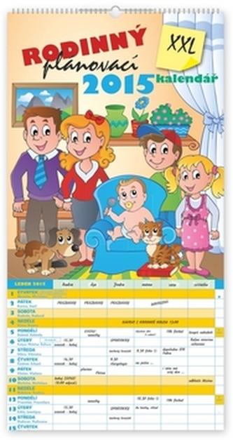 Rodinný plánovací XXL - nástěnný kalendář 2015