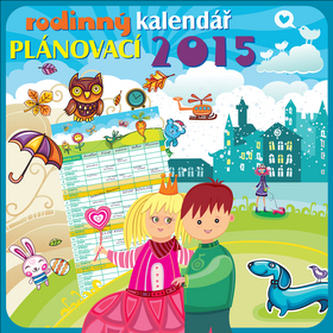Rodinný plánovací poznámkový - nástěnný kalendář 2015