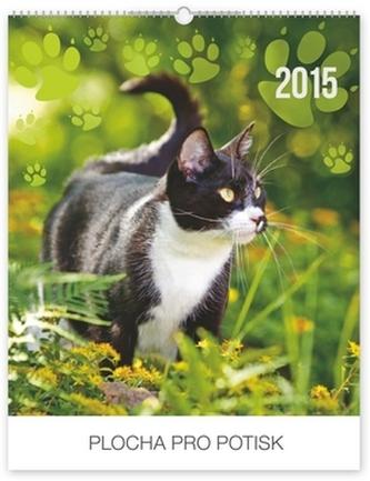 Kočky Praktik - nástěnný kalendář 2015