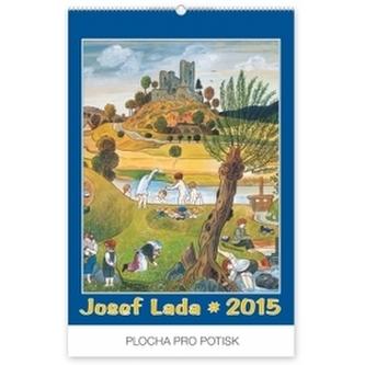 Kalendář 2015 - Josef Lada U rybníka - nástěnný s prodlouženými zády