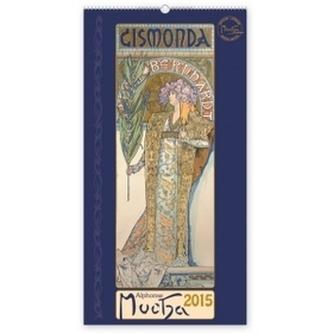 Kalendář 2015 - Alfons Mucha - nástěnný s prodlouženými zády