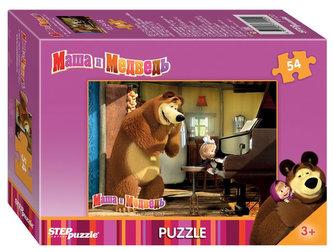 Puzzle mini 54 Máša a Medvěd - Hra na klavír
