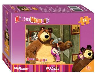 Puzzle mini 54 Máša a Medvěd - Hřebík