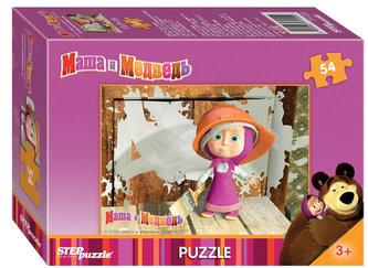 Puzzle mini 54 Máša a Medvěd - Malujeme