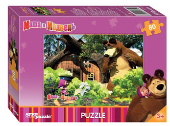 Puzzle 80Máša a Medvěd - Na zahradě