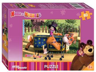 Puzzle 80Máša a Medvěd - Kouzlo s Tigrem
