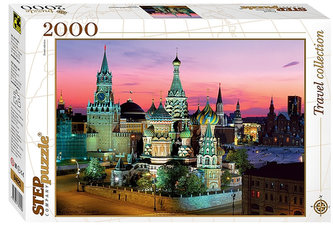 Puzzle 2000 Chrám Vasila Blaženého. Moskva