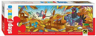 Puzzle 120 Panorama Pohádky - Slípka a myška