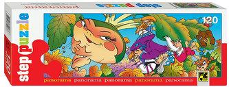 Puzzle 120 Panorama Pohádky - O velké řepě