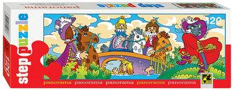 Puzzle 120 Panorama Pohádky - Kocour v botách - neuveden