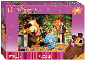 Puzzle 120 Máša a Medvěd zdobí stromek