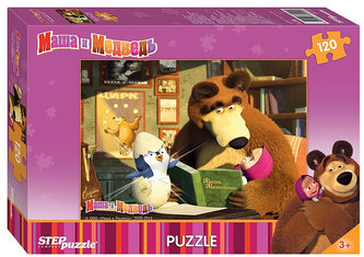 Puzzle 120 Máša a Medvěd - Tučňáček
