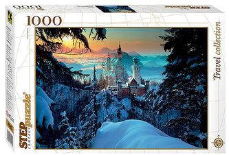 Puzzle 1000 Zámek Neuschwanstein pod sněhem. Bavorsko