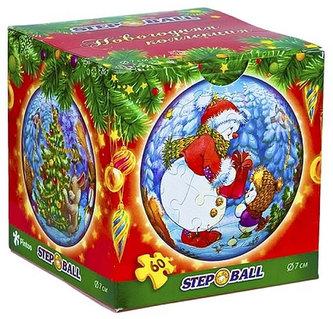 Plastic Puzzle Koule 60 Vánoční kolekce - Sněhulák