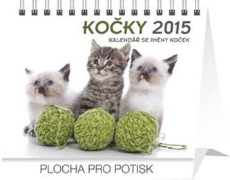 Kočky se jmény koček Praktik - stolní kalendář 2015