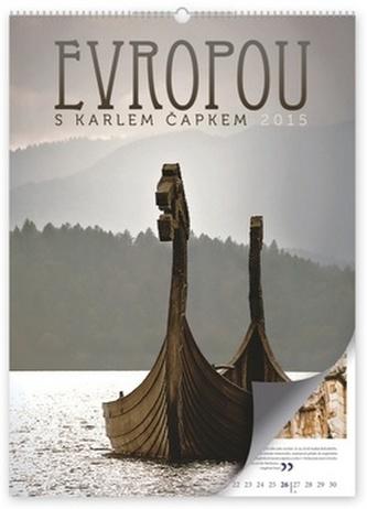 Kalendář 2015 - Evropou s Karlem Čapkem - nástěnný