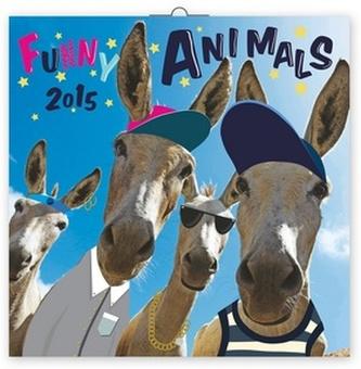 Kalendář 2015 - Funny Animals - nástěnný (CZ, SK, HU, PL, RU, GB)