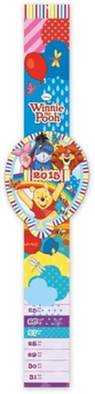 Kalendář 2015 - W. Disney Medvídek Pú kalendář s posuvným ukazatelem dne - nástěnný (CZ, SK, HU, GB)