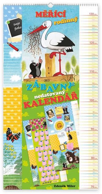 Kalendář - Krteček - měřící rodinný - nástěnný