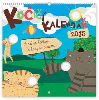 Kalendář 2015 - Kočičí prostřihávaný - nástěnný