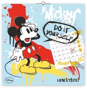Kalendář - W. Disney Mickey Mouse omalovánkový - nástěnný (CZ, SK, HU, GB)
