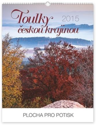 Kalendář 2015 - Toulky českou krajinou Zdeněk Ondruš s českými jmény Praktik - nástěnný s prodlouženými zády