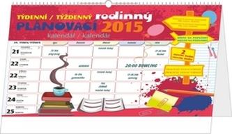 Kalendář 2015 - Týdenní rodinný plánovací kalendář s háčkem
