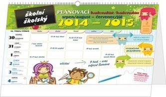 Kalendář 2015 - Školní plánovací kalendář s háčkem (srpen 2014 - červenec 2015)