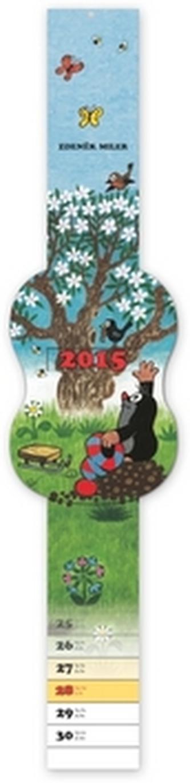 Kalendář 2015 - Krteček kalendář s posuvným ukazatelem dne - nástěnný (CZ, SK, HU, PL)