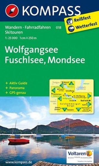 Kompass Karte Wolfgangsee, Fuschlsee, Mondsee