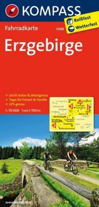 Kompass Fahrradkarte Erzgebirge