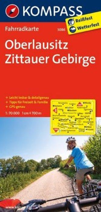 Kompass Fahrradkarte Oberlausitz, Zittauer Gebirge
