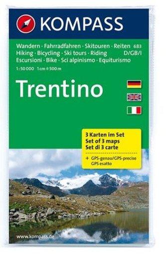 Kompass Karte Trentino, 3 Bl.