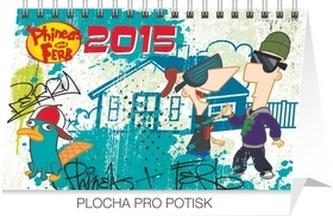 Kalendář 2015 - W. Disney Phineas & Pherb - stolní