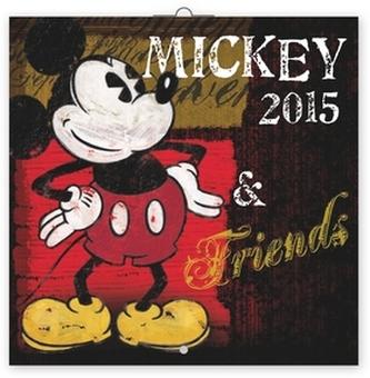 Kalendář 2015 - W. Disney Mickey & Friends poznámkový - nástěnný