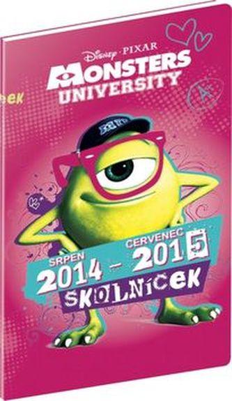 Diář 2015 - W. Disney Univerzita pro příšerky - diář školníček