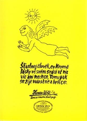 Šťastnej člověk - pohlednice