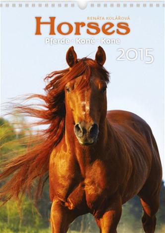 Horses Koně - nástěnný kalendář 2015